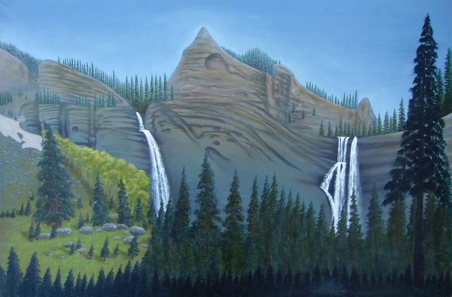 Fourmile Falls And Fall Creek Falls Painting by Philipp Merillat