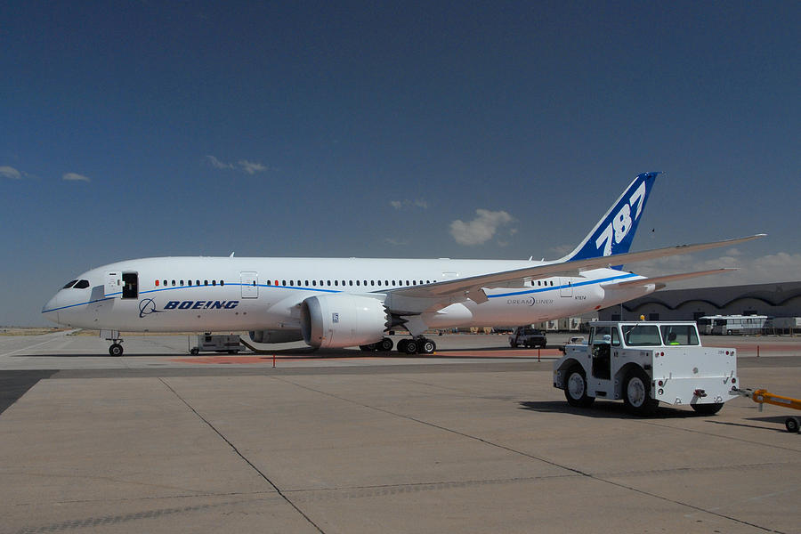 Boeing Photograph - Fourth Boeing 787 Prototype Mesa Gateway Arizona by Brian Lockett