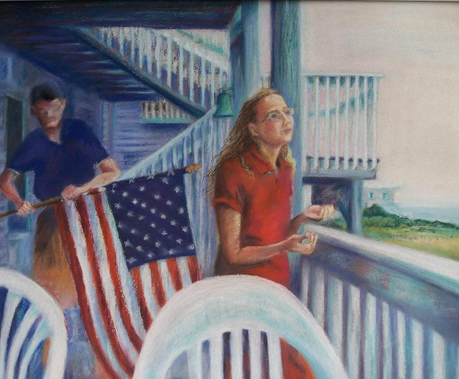 Beach Pastel - Fourth Of July by Laura McMillan