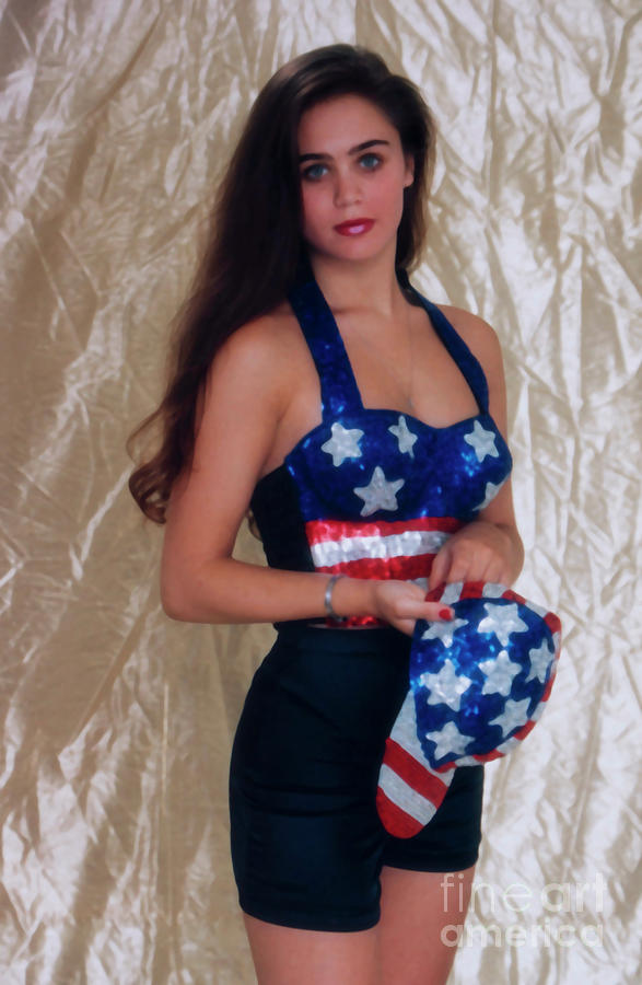Fourth Of July Model Photograph