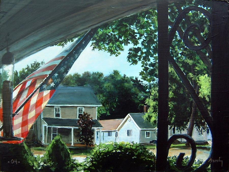 Landscape Painting - Fourth Of July Morning by William  Brody