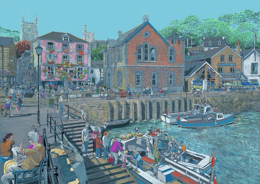 Fowey Cornwall Digital Art by Kevin Collins