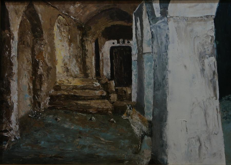 Fox And Night Painting