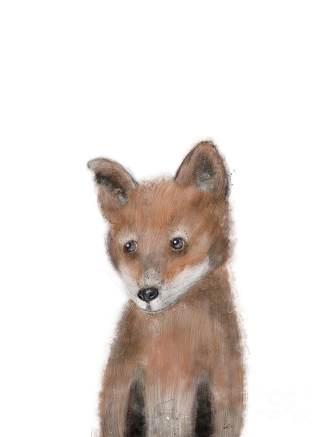 Fox Painting - fox by Bri Buckley