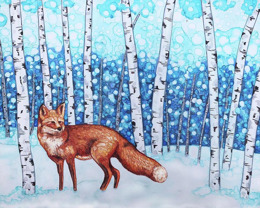 Fox Painting - Fox Forest by Jennifer Allison