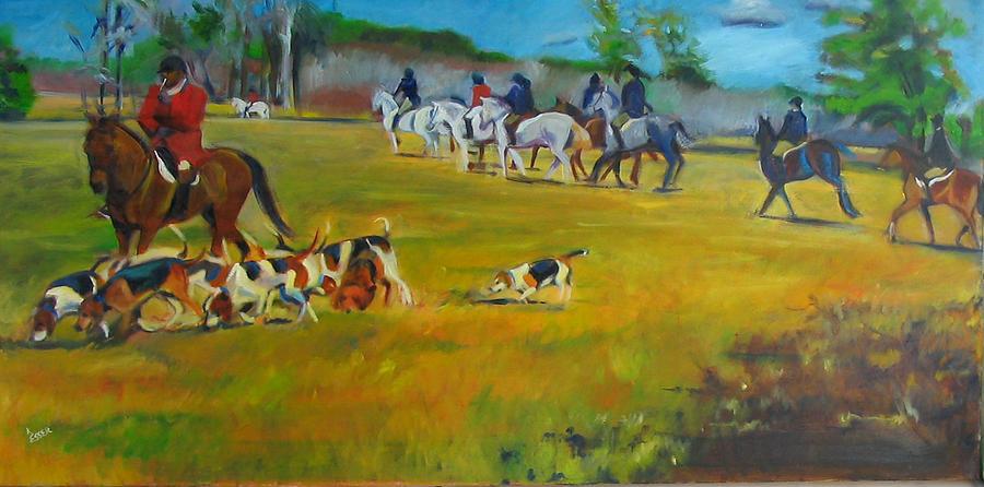 Fox Hunt Painting - Fox Hunt by Kaytee Esser