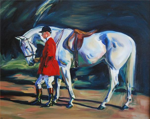 Fox Hunting Painting by Alfredo Linares