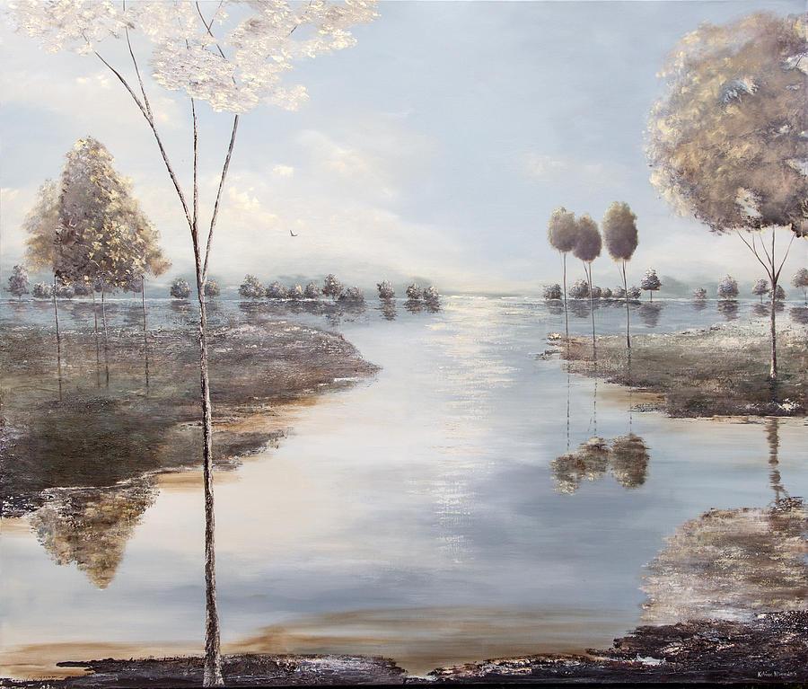 Lake Painting - Fox Lake by Katrina Nixon