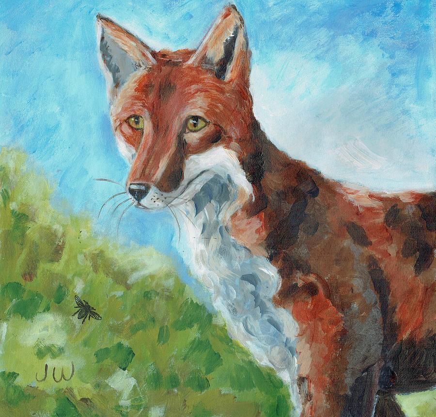 Fox, on the look-out by June Walker