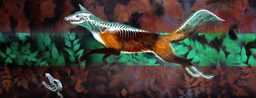 Fox Painting - Fox Run by Darren Mulvenna