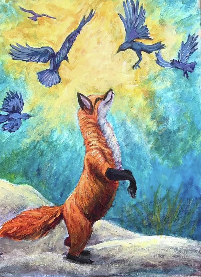 Fox Painting - fox by Sebastian Pierre