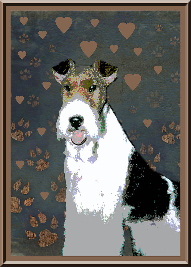 Fox Terrier Wire Photograph - Fox Terrier Wire by One Rude Dawg Orcutt