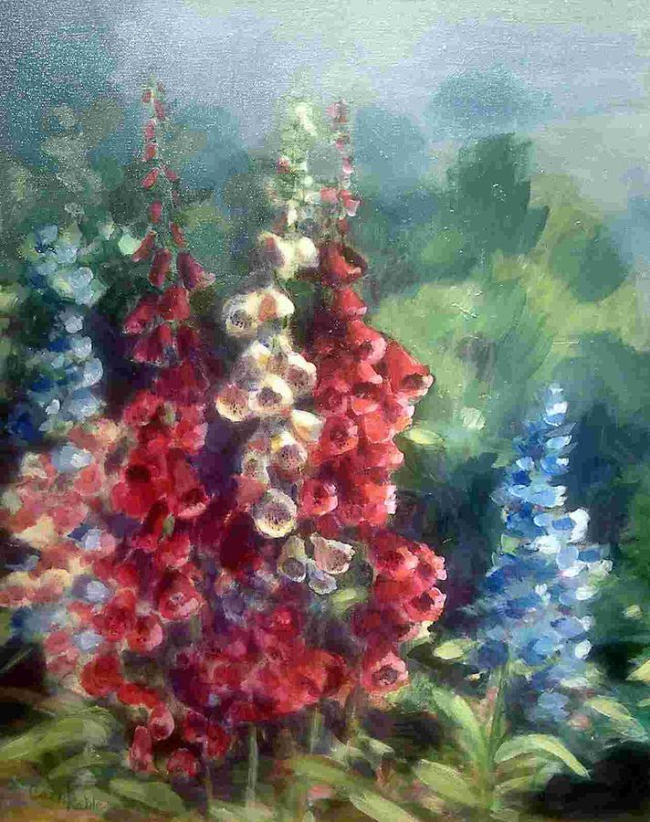 Foxglove Painting - Foxglove Fantasy by Carol Kable