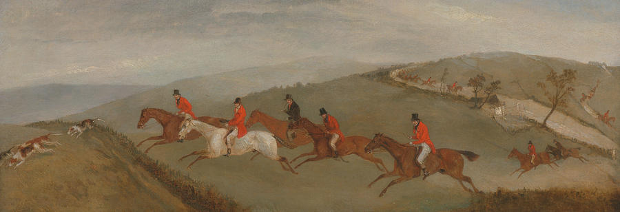 English Painters Painting - Foxhunting - The Few Not Funkers by Richard Barrett Davis