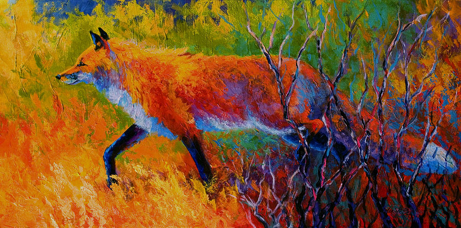 Red Fox Painting - Foxy - Red Fox by Marion Rose