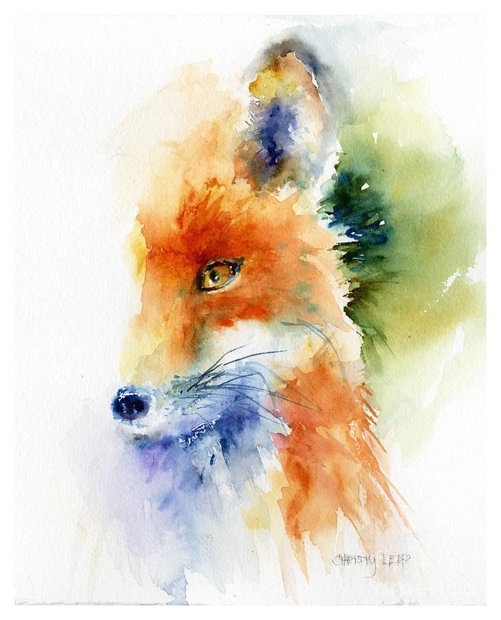 Fox Painting - Foxy Impression by Christy Lemp