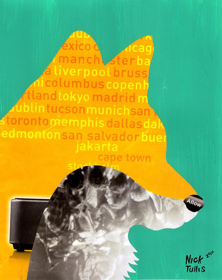 Fox Digital Art - Foxy by Nicholas Tullis
