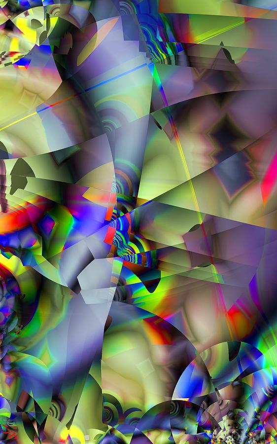 Fractal Digital Art - Fractal Cubism by Ron Bissett