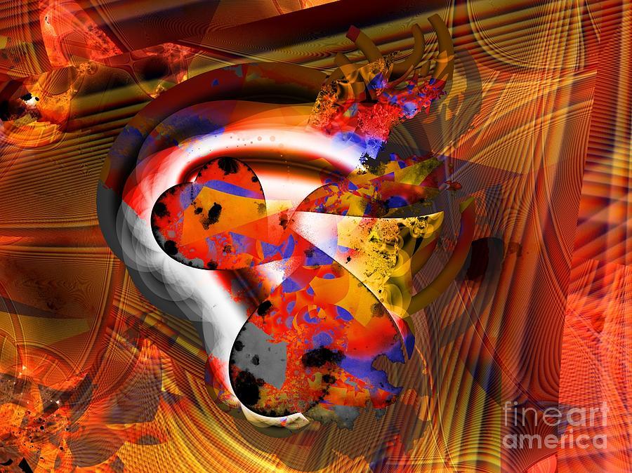 Heart Digital Art - Fractal Heart by Ron Bissett