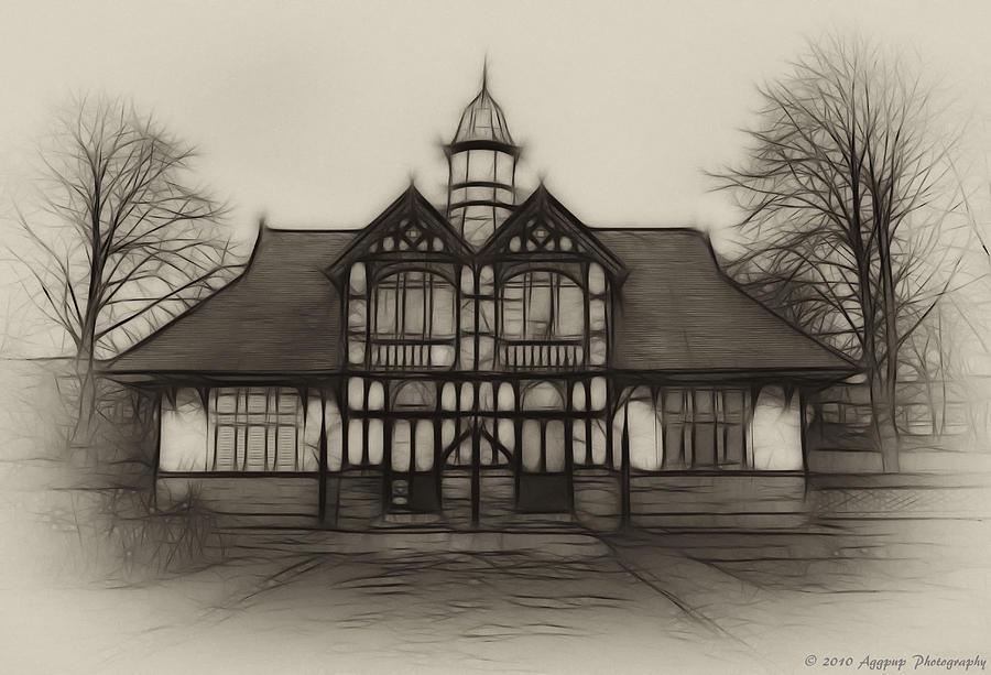 Britain Photograph - Fractal Pavilion by David J Knight