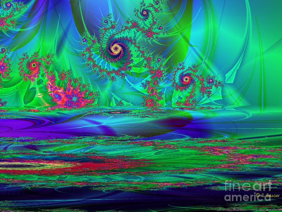 Digital Digital Art - Fractal Reflections by Sandra Bauser Digital Art