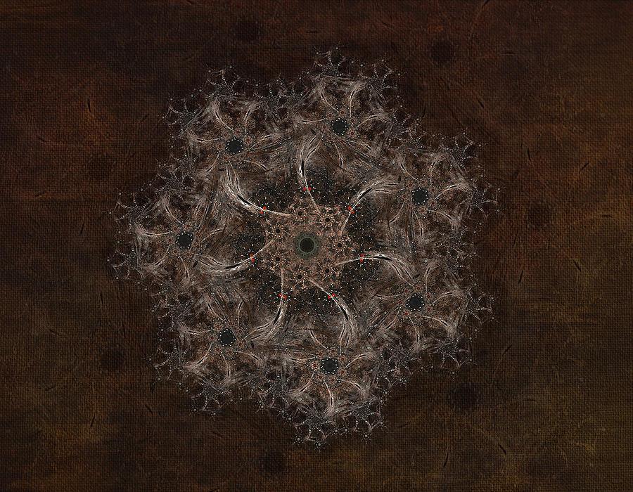 Fractal Digital Art - Fractal Tapestry by AGeekonaBike Fine
