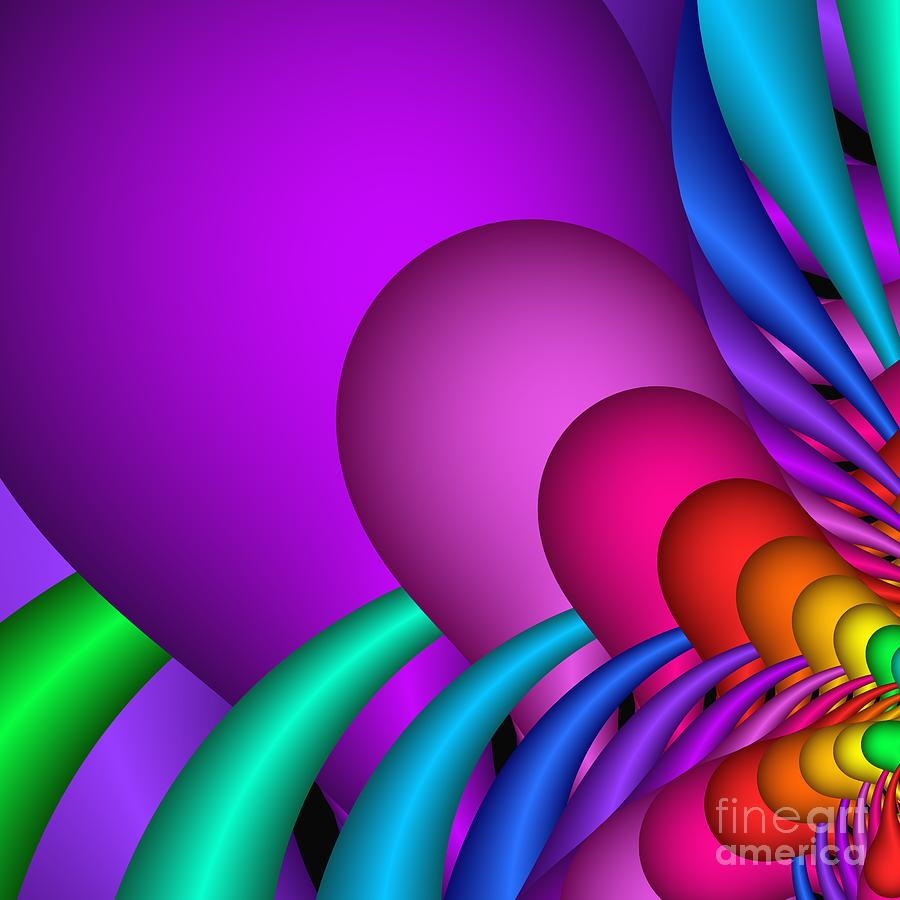 3d Digital Art - Fractalized Colors -1- by Issabild -