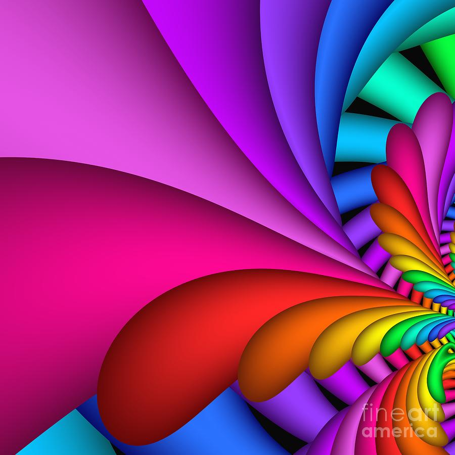 3d Digital Art - Fractalized Colors -2- by Issabild -