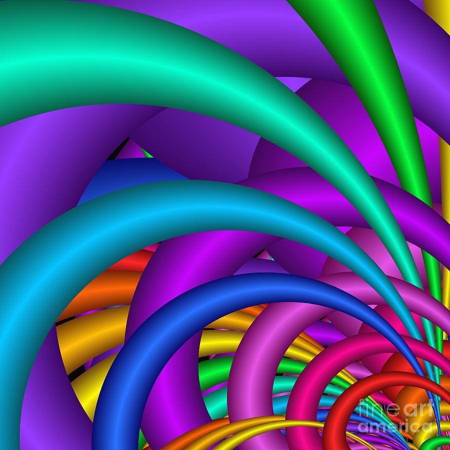 3d Digital Art - Fractalized Colors -6- by Issabild -