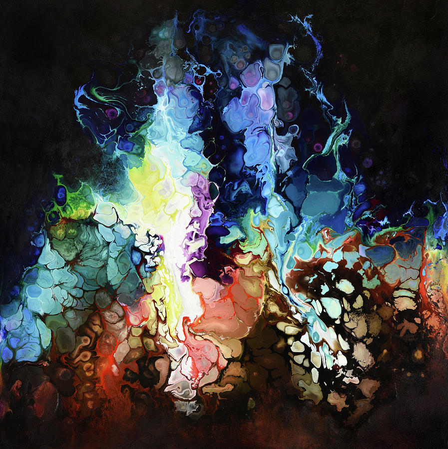 Abstract Painting - Fractured Fairy Tale by Dion Kurczek