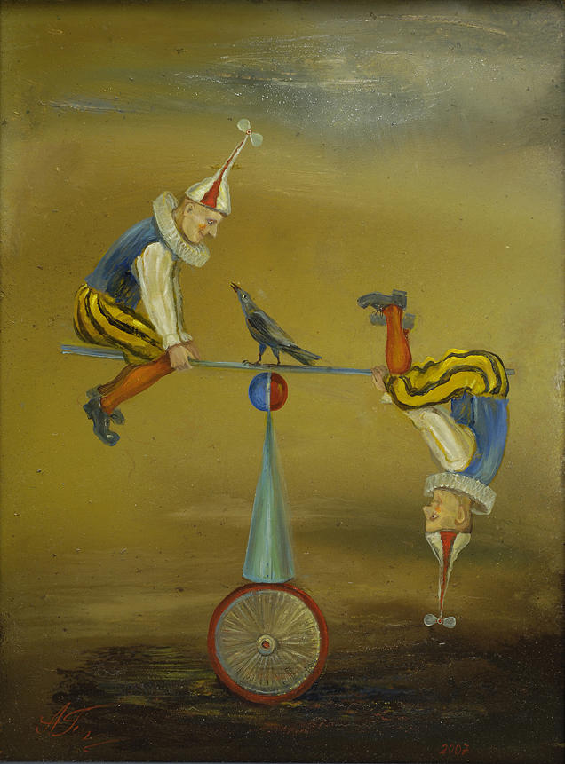 Puppet Painting - Fragile Balance by Alla Goniodsky