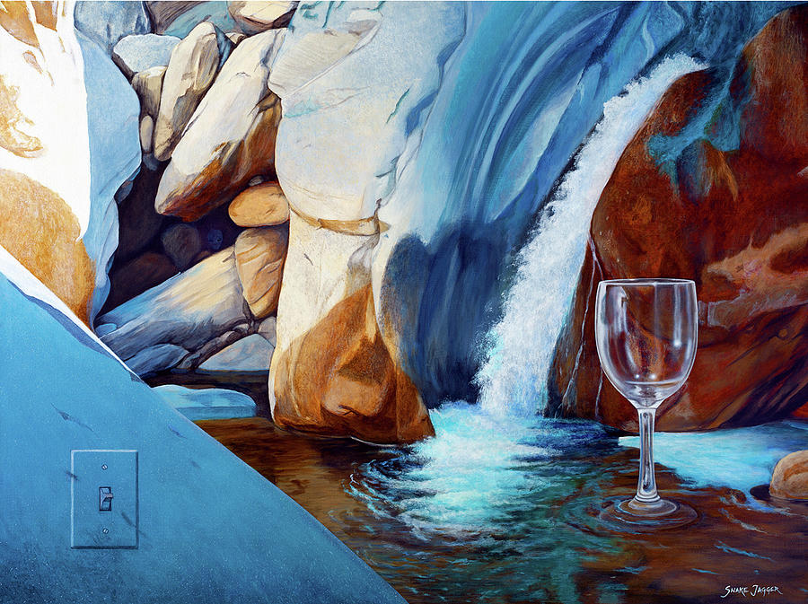 Landscape Painting - Fragile Moments by Snake Jagger