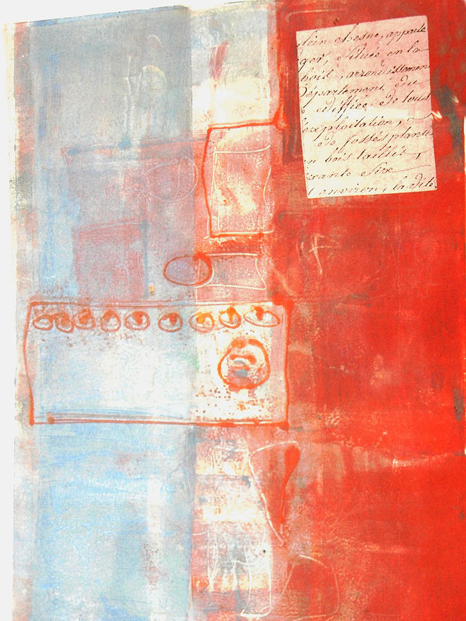 Monoprint Painting - Fragment by Susan Grissom