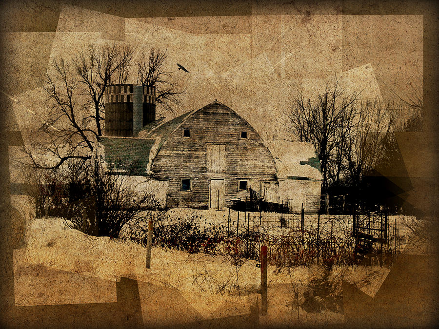 Barn Photograph - Fragmented Barn  by Julie Hamilton