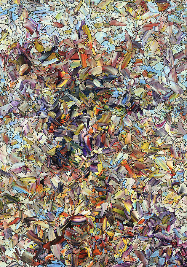 Animal Painting - Fragmented Horse by James W Johnson