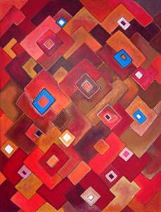 Geometric Painting - Fragrance Of Affection I by Lili Vanderlaan