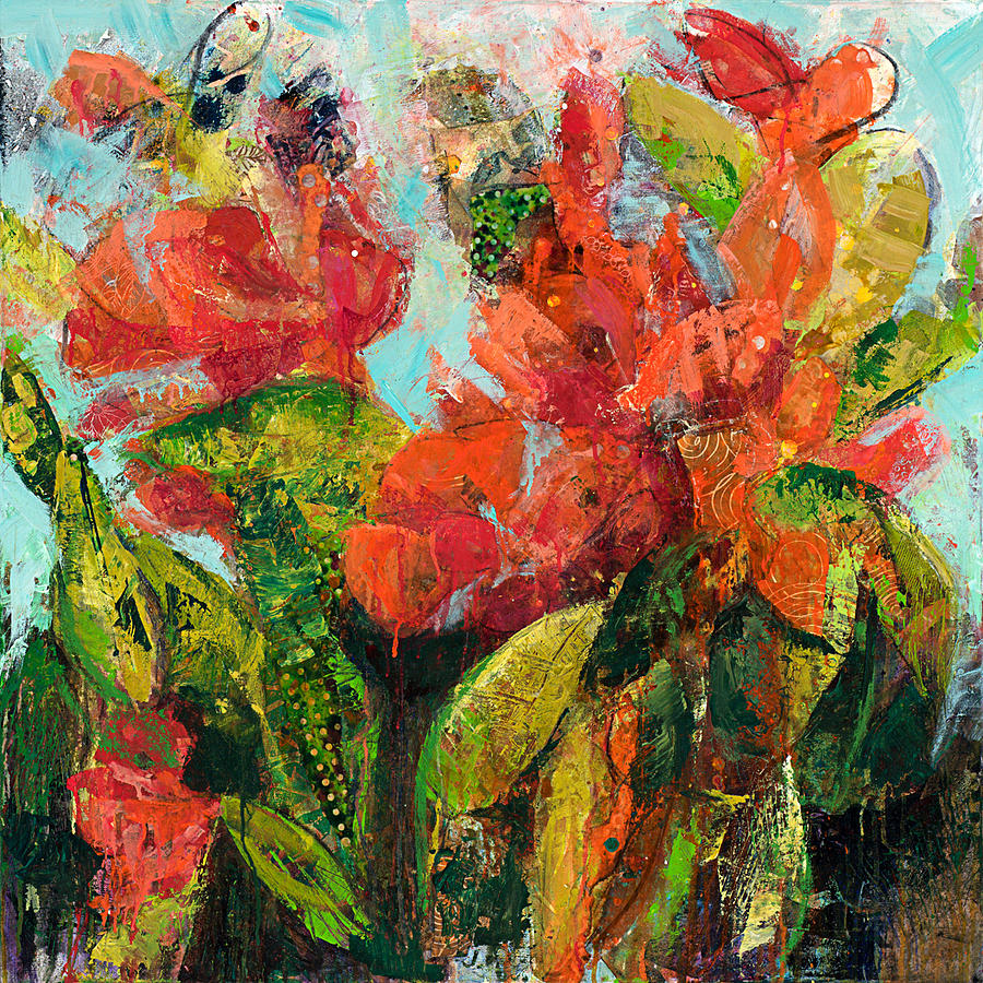 Mixed Media Painting - Fragrant by M Jane Johnson