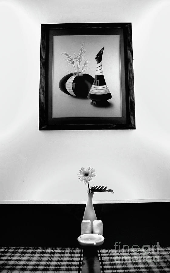 Painting Photograph - Frame And Flower by Charuhas Images