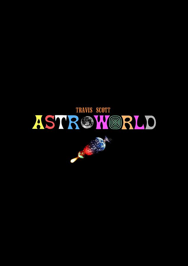 477642b42f5b Frame Travis Scott Astroworld Tour 2018 Nesiacute02 Digital Art by ...