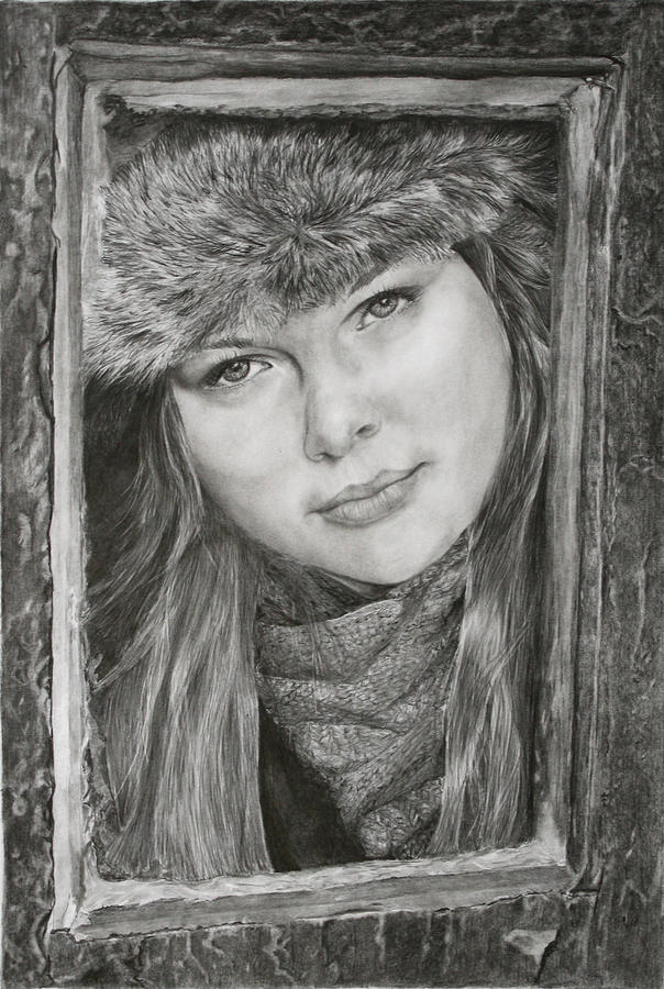 Graphite Drawing - Framed - after Maureen Killaby by Mary Beglau Wykes