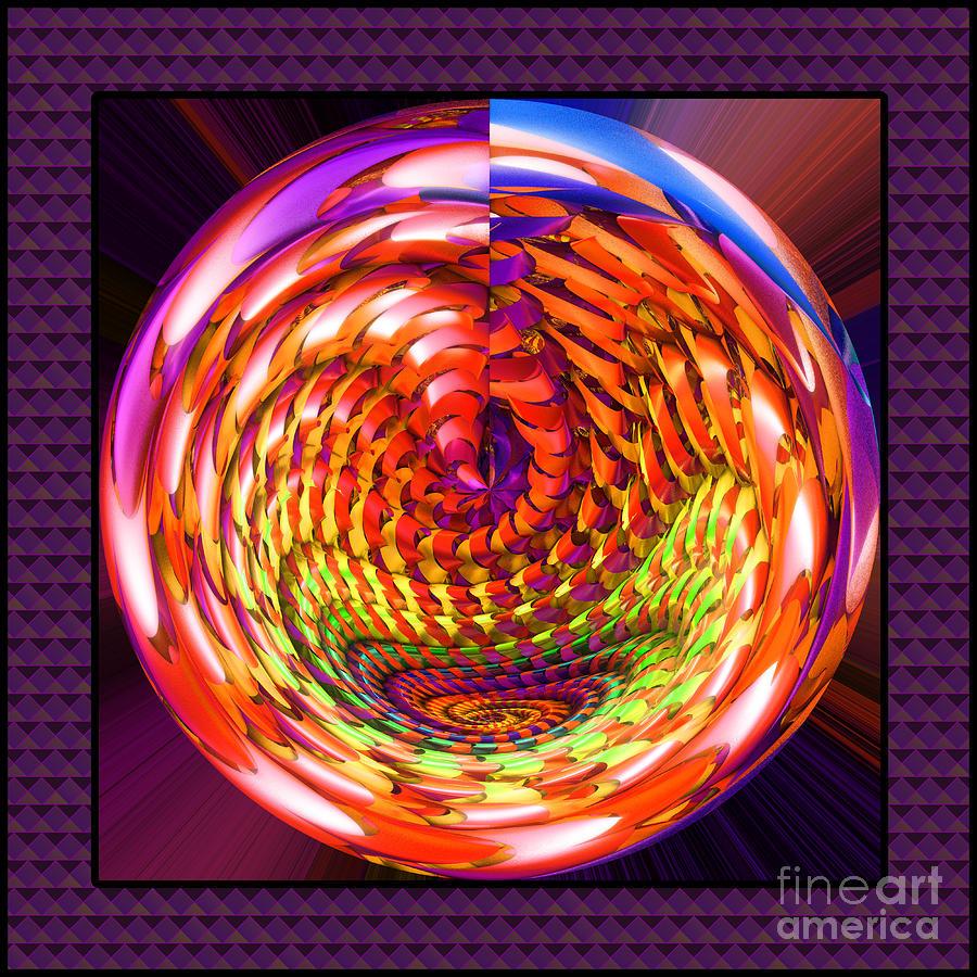 Object Digital Art - Framed Glass Spiral by Gaspar Avila