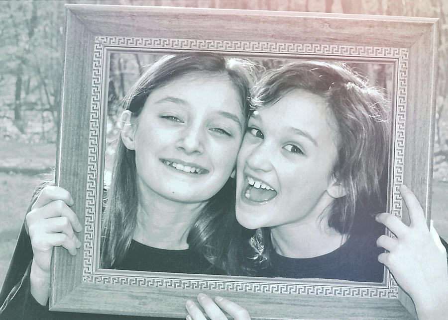 Sister Photograph - Framed by JAMART Photography