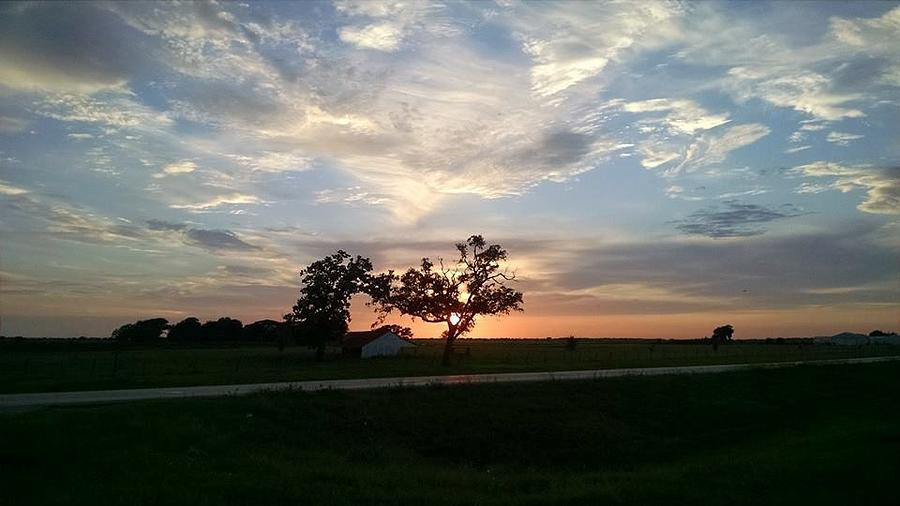 Framed Sunset by J L Hodges