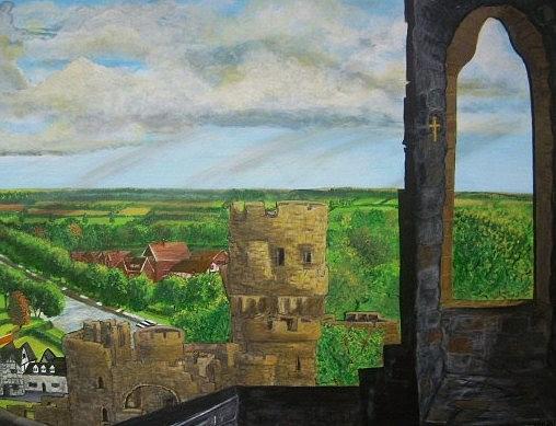 United Kingdom Painting - Framlingham Castle by Richard  Hubal