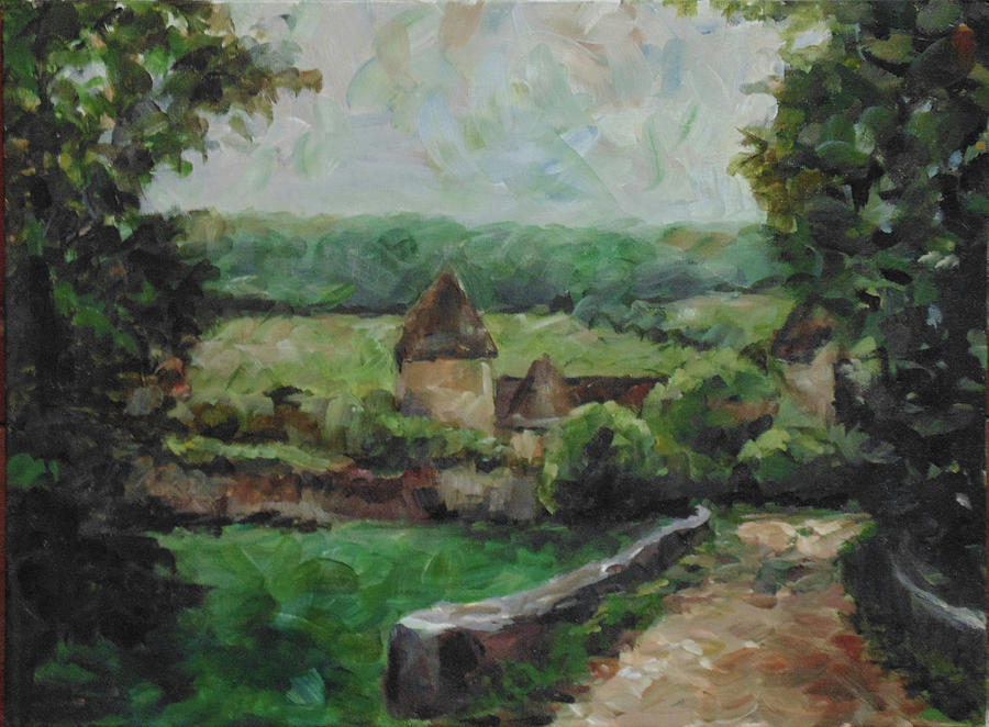 Landscape Painting - France, 1993 by Susan Moore
