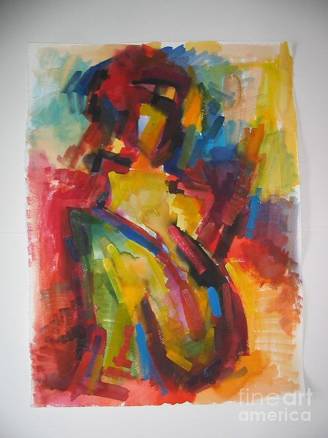 Modern Painting - France Aquarell 3 by David Simon