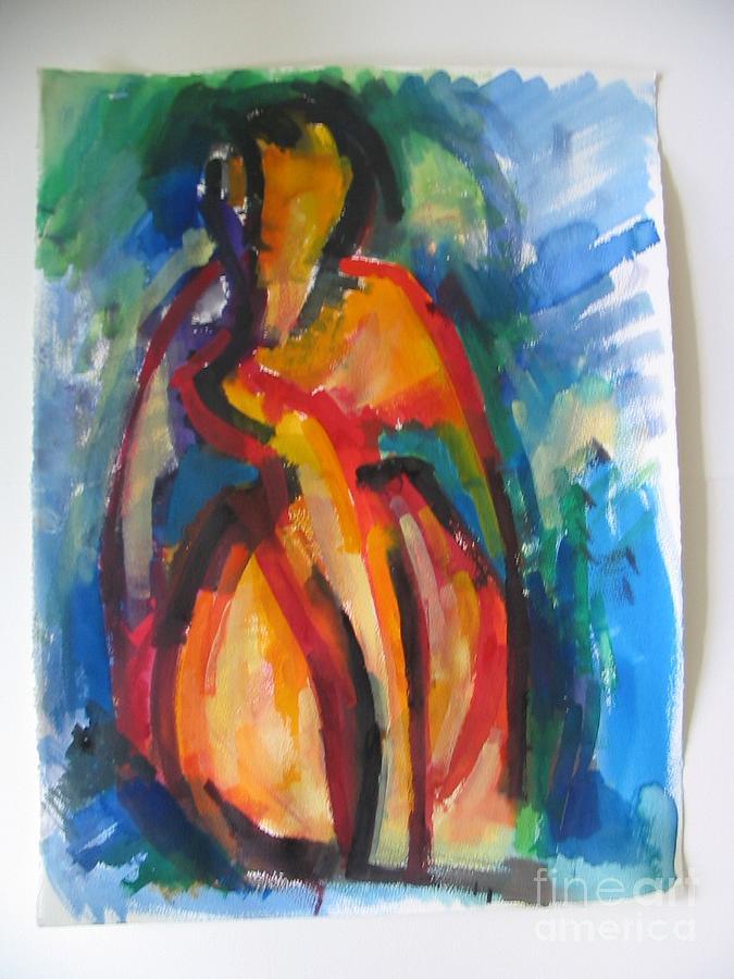 Modern Painting - France Aquarell 4 by David Simon