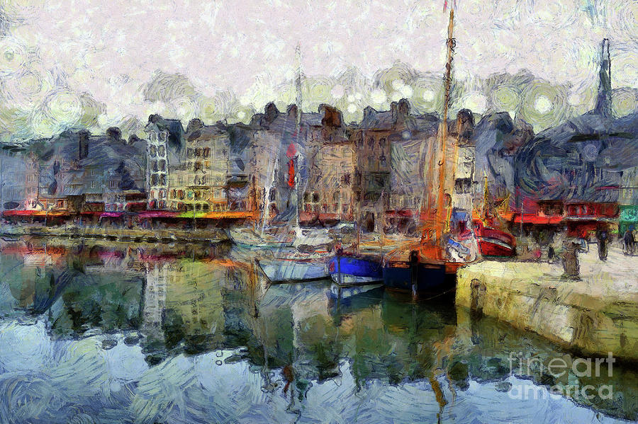 Boats Photograph - France Fishing Village by Claire Bull