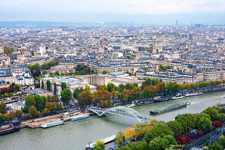 France From The Eiffel Tower Photograph