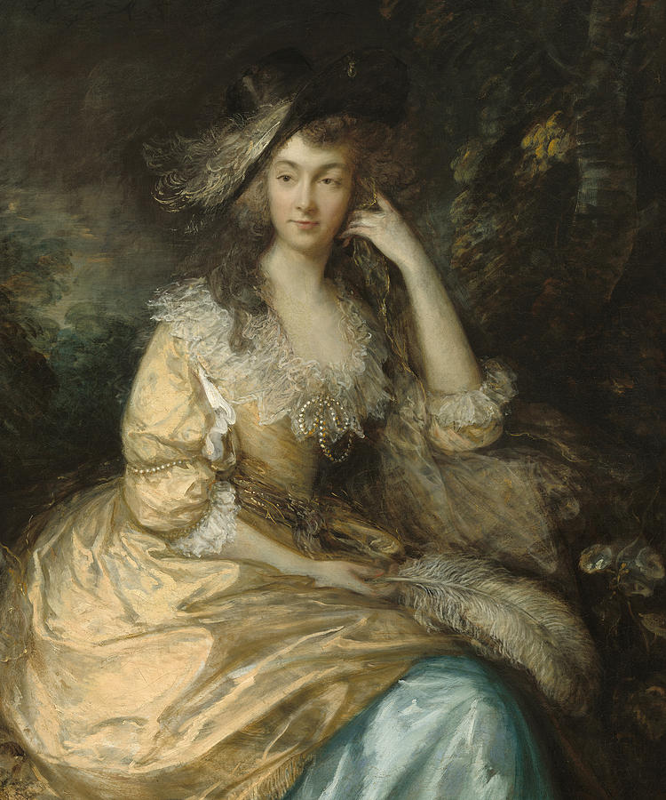 And Painting - Frances Susanna Lady de Dunstanville by Thomas Gainsborough